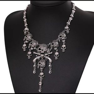 Skull necklace- 2 colors available